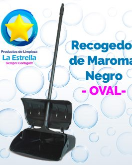 RECOGEDOR DE MAROMA NEGRO // OVAL