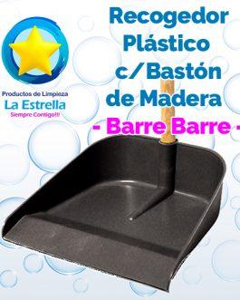 RECOGEDOR PLÁSTICO C/BASTÓN MADERA***