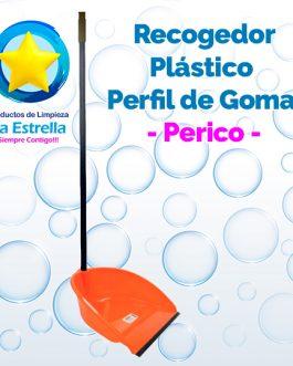 RECOGEDOR PLÁSTICO C/PERFIL GOMA // PERICO***