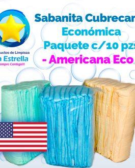 SÁBANA CUBRECAMA ECONÓMICA (10 PZS) // AMERICANA ECO