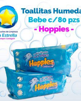 TOALLITAS HÚMEDAS BEBE / HOPPIES (80 PZS)