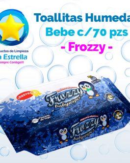 TOALLITAS HÚMEDAS BEBE C/ALOE (70 PZS) // FROZZY