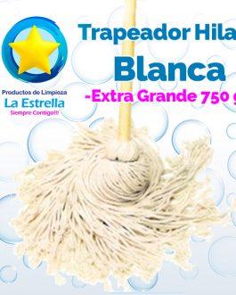 TRAPEADOR HILAZA BLANCA EXTRA GRANDE ***