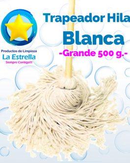 TRAPEADOR HILAZA BLANCA GRANDE ***