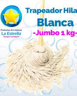 TRAPEADOR HILAZA BLANCA JUMBO ***