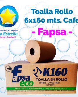 TOALLA ROLLO P/MANOS KRAFT 6×160 MTS // FAPSA **CAJA**